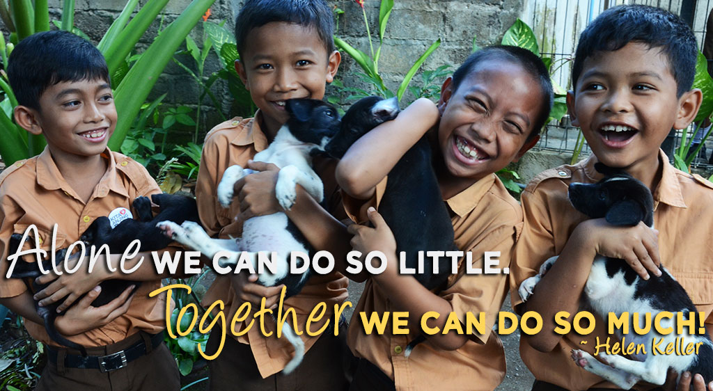 Alone, we can do so little. Together, we can do so much.